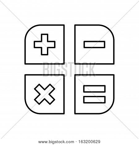 Basic math operations icon vector illustration graphic design