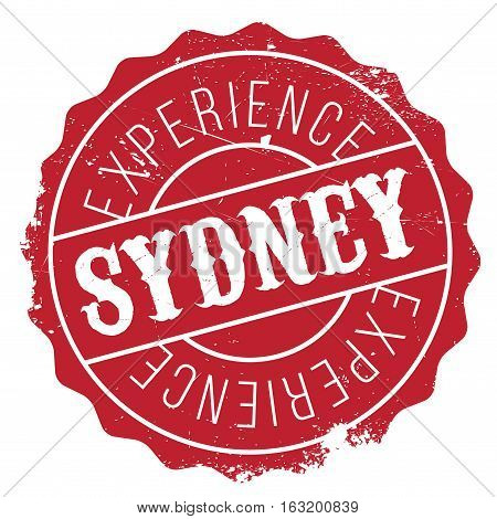 Sydney stamp. Grunge design with dust scratches. Effects can be easily removed for a clean, crisp look. Color is easily changed. rubber grunge
