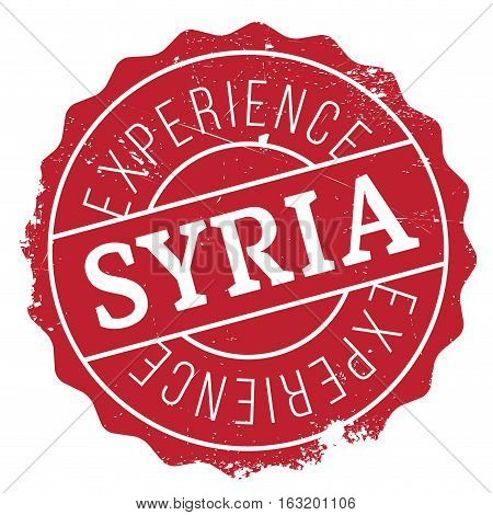 Syria stamp. Grunge design with dust scratches. Effects can be easily removed for a clean, crisp look. Color is easily changed. rubber grunge