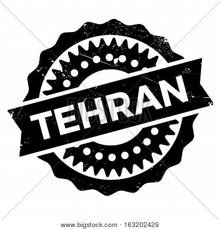 Tehran stamp. Grunge design with dust scratches. Effects can be easily removed for a clean, crisp look. Color is easily changed. rubber grunge