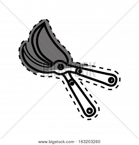 shears gardening tool icon vector illustration graphic design