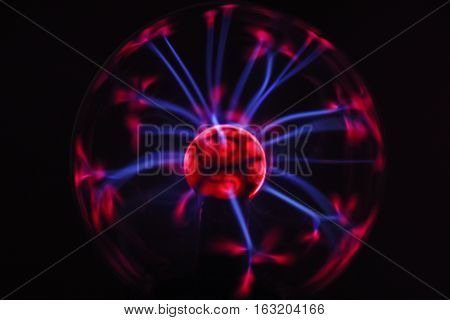 Electricity Fire-ball. Photo Of Electric Waves.