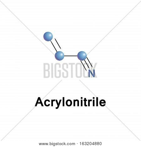 Acrylonitrile is an organic compound consists of a vinyl group linked to a nitrile. It is a monomer for the manufacture of plastics such as polyacrylonitrile. It is reactive and toxic at low doses.
