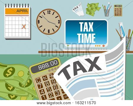 Tax Preparation for tax season with graphic elements