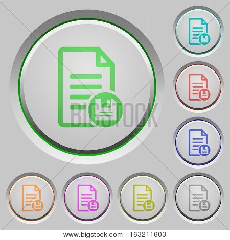 Save document color icons on sunk push buttons