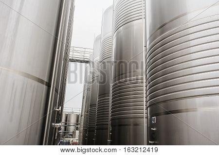 Metal Wine Barrel
