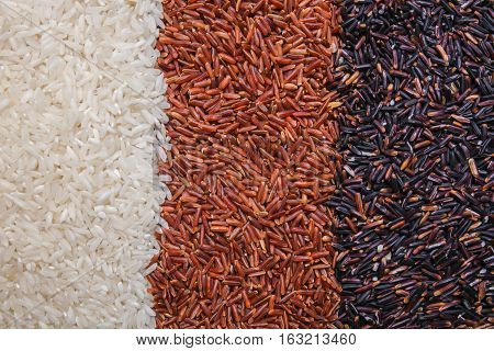 red black and white rice background or texture
