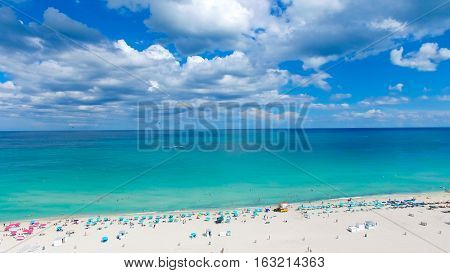 South Beach, Miami Beach. Florida. Atlantic Ocean