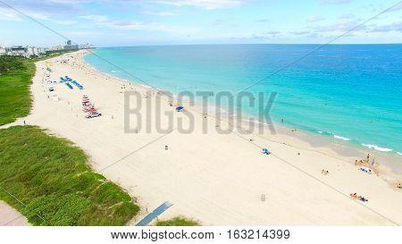 South Beach, Miami Beach. Florida. Atlantic Ocean