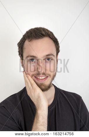 Portrait  Of Positive Looking Mature Man