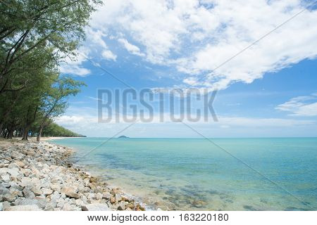 Seascape Chalathat beach in Songkhla province South of Thailand.