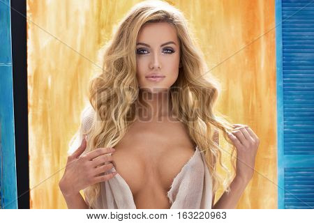 Sexy Woman With Blonde Hair