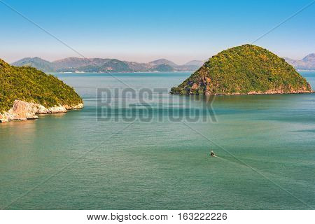 Tropical Islands In Sea. Kho Nomswaw Island, Gulf Of Thailand