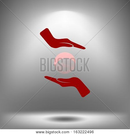 Soap Bubble And Hands Vector Icon