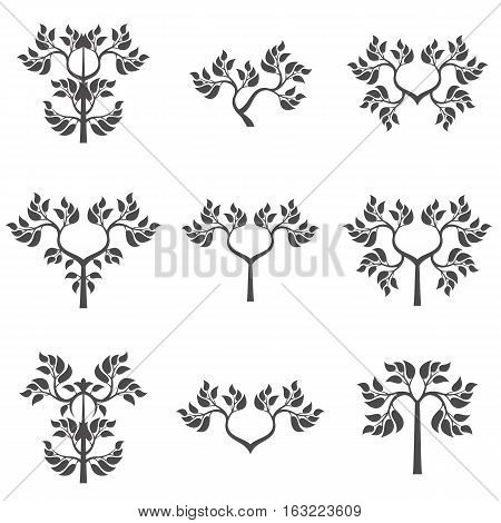 Set of abstract foliate elements. Abstract tree.