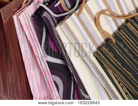 Close-up Of Colorful Paper Shopping Bags