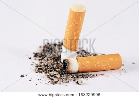 Close-up Tobacco Cigarettes Background Or Texture