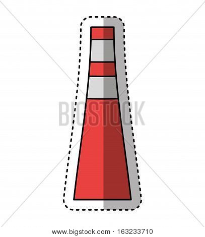 Refining plant chimney isolated icon vector illustration design