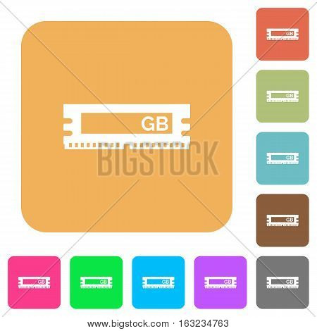 RAM module icons on rounded square vivid color backgrounds.