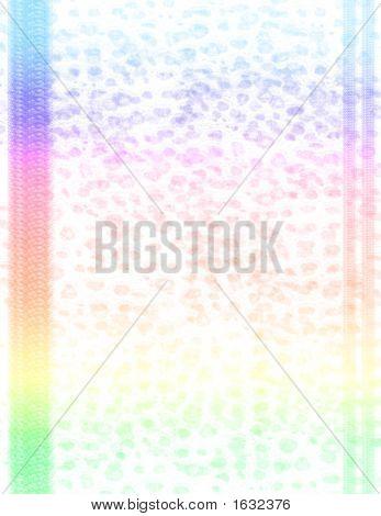 Scrapbook Page Layout - Rainbow Animal Print