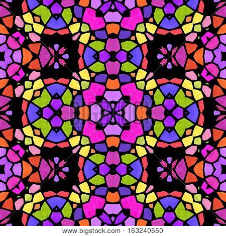 Abstract colorful kaleidoscopic background texture and pattern