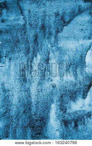 Abstract Blue Watercolor On Paper Texture As Background. Christmas Background Or New Year Background