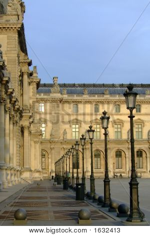 Lampposts At The Louvre