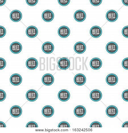 Label best seller pattern. Cartoon illustration of label best seller vector pattern for web