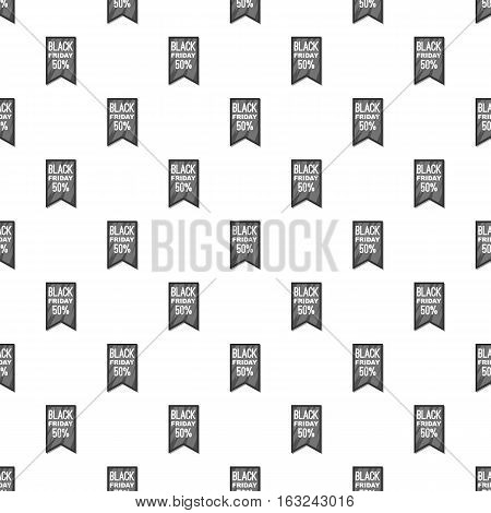 Label black friday fifty percent pattern. Cartoon illustration of label black friday fifty percent vector pattern for web