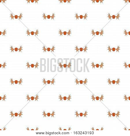 Deer antler pattern. Cartoon illustration of deer antler vector pattern for web
