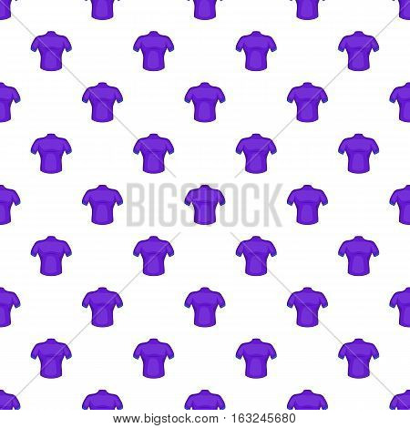 T-shirt for cyclists pattern. Cartoon illustration of t-shirt for cyclists vector pattern for web