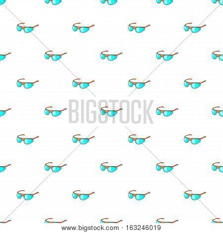 Cycling sunglasses pattern. Cartoon illustration of cycling sunglasses vector pattern for web
