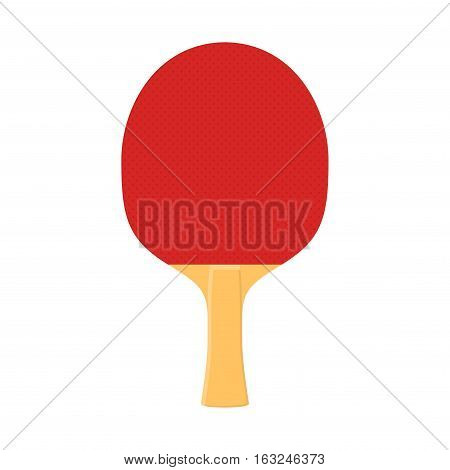 Racket for playing table tennis or ping-pong vector isolated on white background.