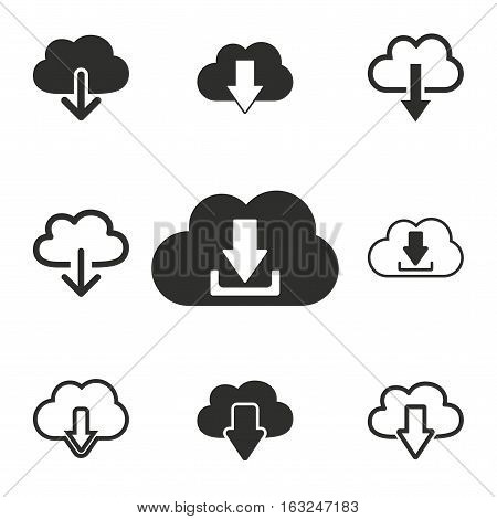 Download vector icons set. Illustration isolated for graphic and web design.