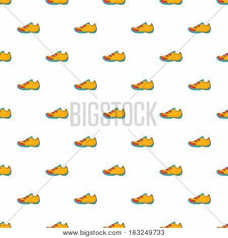 Sneakers for tennis pattern. Cartoon illustration of sneakers for tennis vector pattern for web