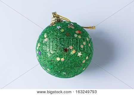 the beautiful christmas ball isolated on white background