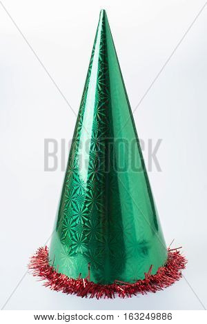 the green hat used in christmas festival