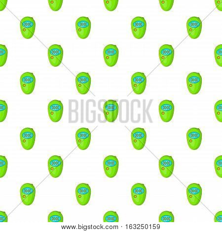 Stopwatch pattern. Cartoon illustration of stopwatch vector pattern for web