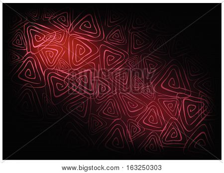 Illustration of Beautiful Red Vintage Texture Background with Triangle Spiral Pattern for Add Content or Picture.