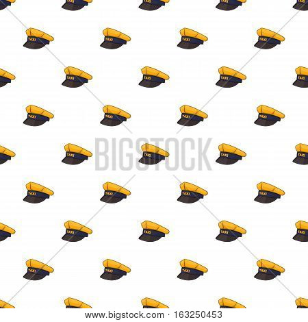 Cap taxi driver pattern. Cartoon illustration of cap taxi driver vector pattern for web