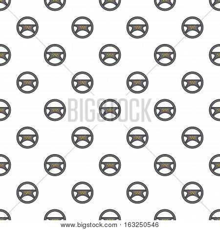 Steering wheel of taxi pattern. Cartoon illustration of steering wheel of taxi vector pattern for web