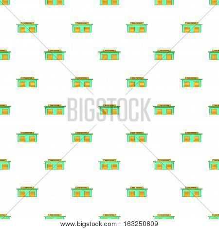 Taxi station pattern. Cartoon illustration of taxi station vector pattern for web