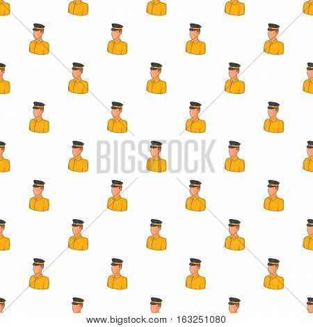 Taxi driver pattern. Cartoon illustration of taxi driver vector pattern for web