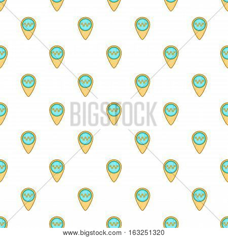 Geo taxi pattern. Cartoon illustration of geo taxi vector pattern for web