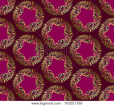 Art Nouveau style vector purple pattern illustration