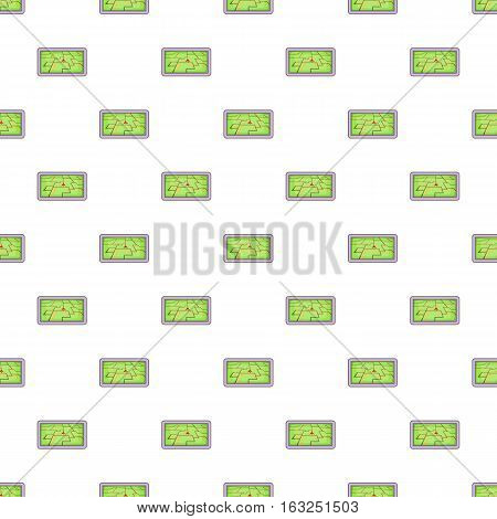 GPS navigation pattern. Cartoon illustration of GPS navigation vector pattern for web