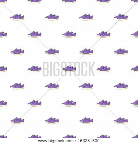Loafers pattern. Cartoon illustration of loafers vector pattern for web
