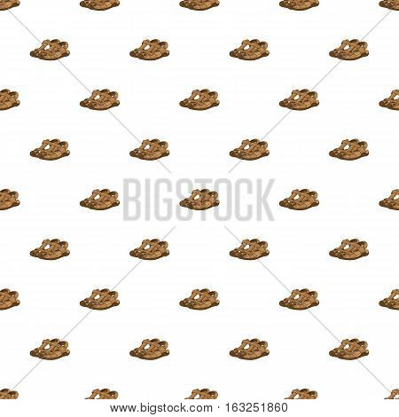 Sandals pattern. Cartoon illustration of sandals vector pattern for web