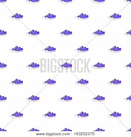 Women sneakers pattern. Cartoon illustration of women sneakers vector pattern for web