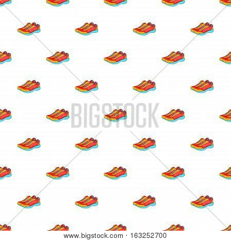 Sport sneakers pattern. Cartoon illustration of sport sneakers vector pattern for web